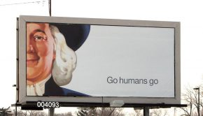 Go Humans Go Poster