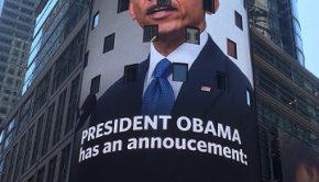 President Obama on NASDAQ sign June 25, 2016