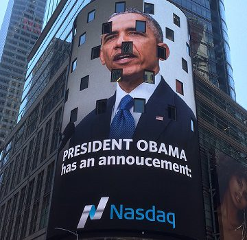 President Obama on NASDAQ sign June 25, 2016