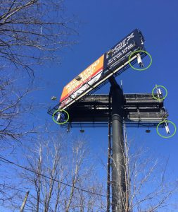 Billboard with Small Cell Antenna