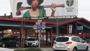 Portland Timbers soccer billboard
